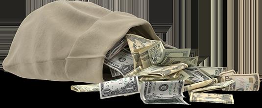 Open Money Bag - Home